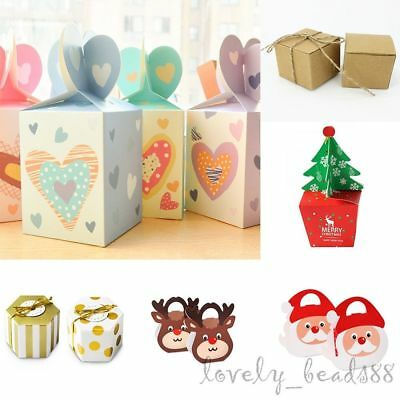 10/50/100X 7 Style Xmas Sweet Cake Candy Apple Box Favor Party Gifts Christmas