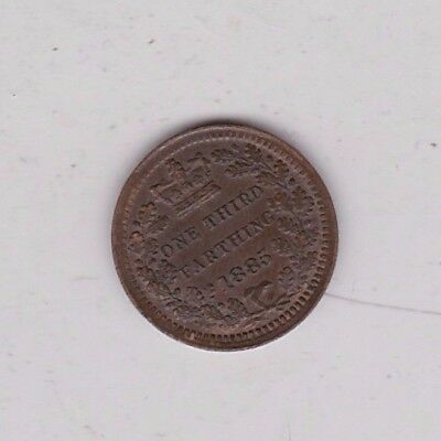 1885 Victorian Third Farthing In Extremely Fine Condition