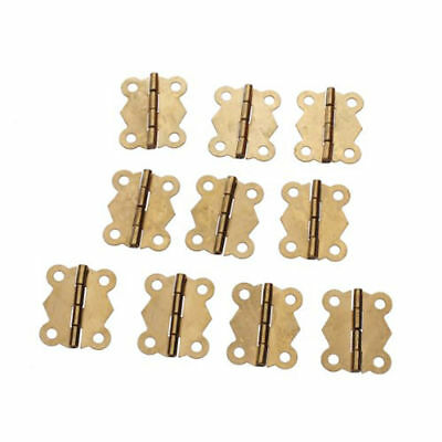 10Pc Brass Color Mini Butterfly Hinges for Cabinet Drawer Jewelry Box DIY Repair