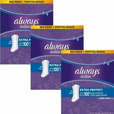 Always Dailies Panty Liners Large Extra Protection Odour Neutralising - 156 Pack