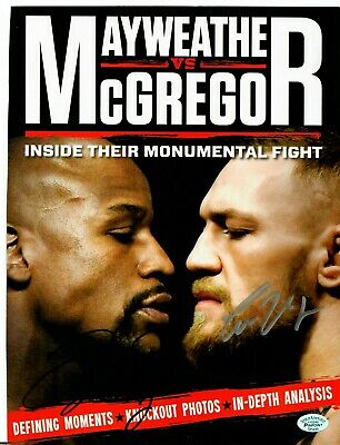 RARE! Floyd Mayweather Conor McGregor Magazine Hand Signed Authenticated