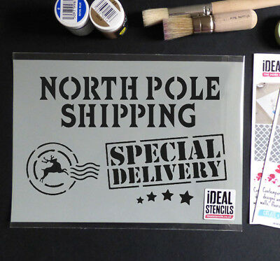 Christmas Eve Box STENCIL Special Delivery Xmas Decorating Painting Ideal Stenci