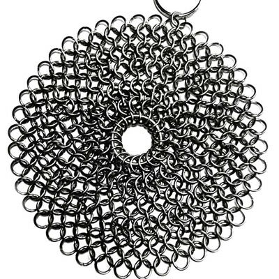 Finger Iron Cleaner Stainless Steel Chain mail Scrubber Ringer Cast