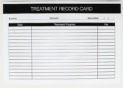 SALON - THERAPIST  Treatment Client Record Card (50 pack) A5 Size