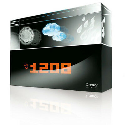 Oregon Scientific Design Crystal Wetterstation mit 3D Wetter Symbolen BA900