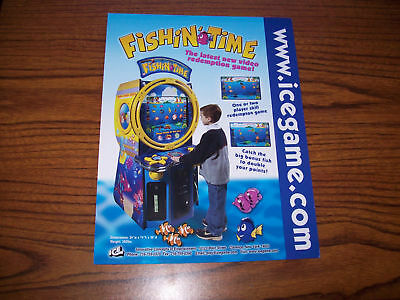 Ice Fishin' Time Video Arcade Game Flyer Brochure