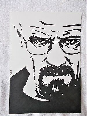 A4 Art Marker Pen Sketch Drawing Breaking Bad Series Walter White Face B Poster