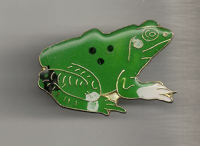 Vintage Large Green Frog old enamel pin