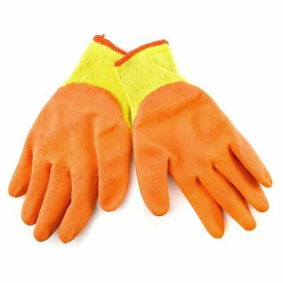 XL Size 10 Polycotton Latex Rubber Coated Protective Work Gloves 12 Pairs