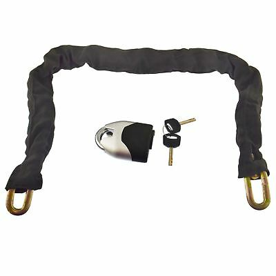 Heavy Duty Motorcycle Bike Chain And Padlock Disc Lock Anti-Theft 1 metre