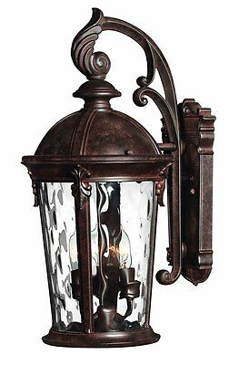 "Hinkley Lighting 1898RK River Rock 20.75"" Height 3 Light Lantern Outdoor Wall"