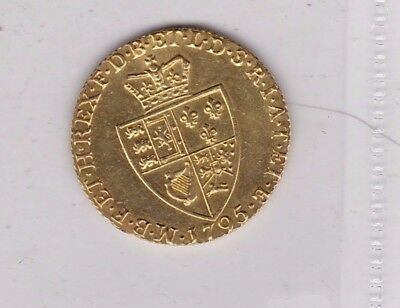 Mounted 1795 George Iii Gold Guinea In Extremely Fine Condition