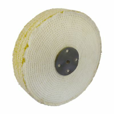 """Coarse Sisal Fast Cut Buffing Polishing Mop 10"""" x 2"""" 4 Section 1st Stage Metal"""