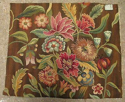 An Antique Tapestry with Flowers