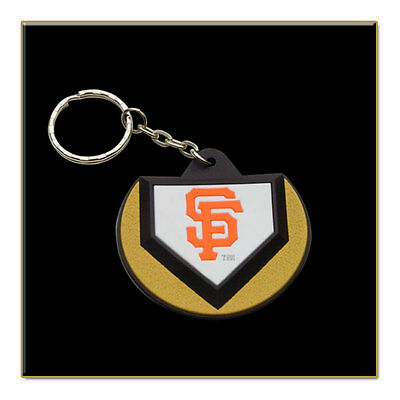 Two San Francisco Giants MLB Home Plate Key Chains
