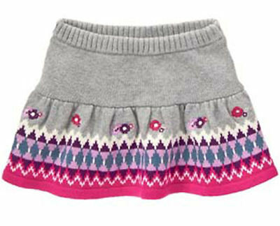 NWT Gymboree PRIMA BALLERINA Gray Sweater Knit Flower Skirt FREE US SHIPPING NEW