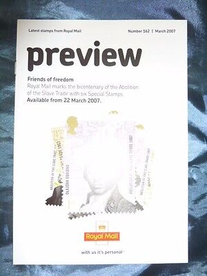 British Stamps Preview No. 162 March 2007 Royal Mail leaflet Friends Of Freedom