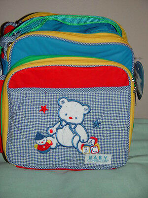 Baby Connection Organizer Diaper Bag Pocket on Each Side & 2 n Front One In Back