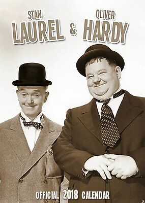 Laurel and & Hardy -BIG A3- 2018 CALENDAR - (This will not be for sale in Shops)