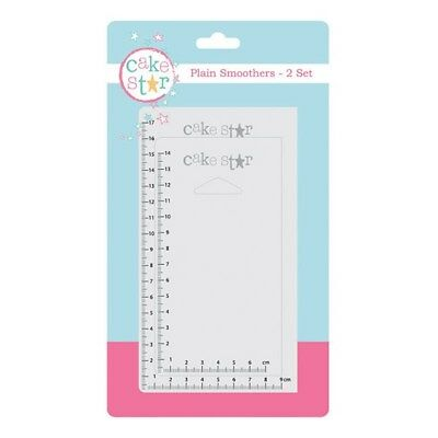 CAKE STAR set of 2 plain smoothers with measurements 15 & 18cm long