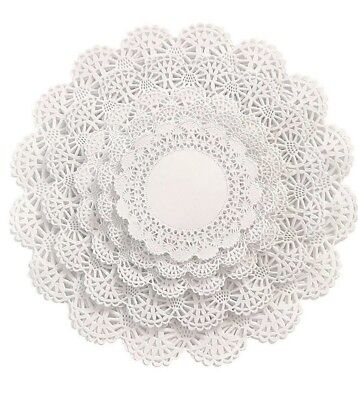 """100 Paper Lace Doilies Variety Pack 20 of each 4"""", 5"""", 6"""", 8"""", and 10"""" Lot"""