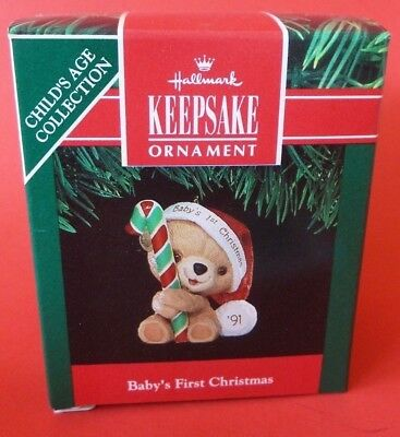 Hallmark 1991 Baby's First Christmas Child's Age Collection Ornament