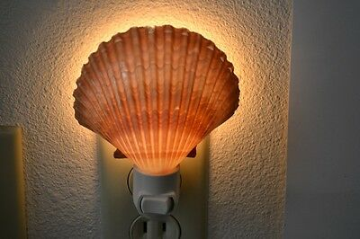 Yellow Mexican Cup Sea Shell Night Light Bathroom Kitchen #7187