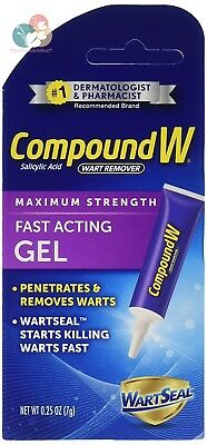 Compound W Fast Acting Wart Removal Gel - Maximum Strength Penetrates and...