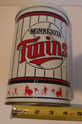 "Vintage MN Minnesota Twins MLB Baseball Tin Can 5"" x 7""  hard to find"