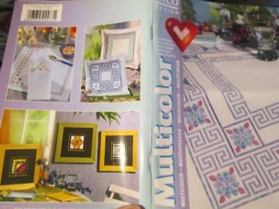 Multicolor Rico Designs Embroidery/Satin Stitch Booklet #61-Geometric/Flowers/He