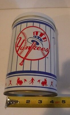 "Vintage NY Yankees  MLB Baseball Tin Can 5"" x 7""  hard to find"
