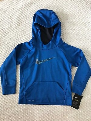 NWT Nike Toddler Boys' Therma-Fit Hooded Pullover Sweatshirt, MSRP $38 blue 4T