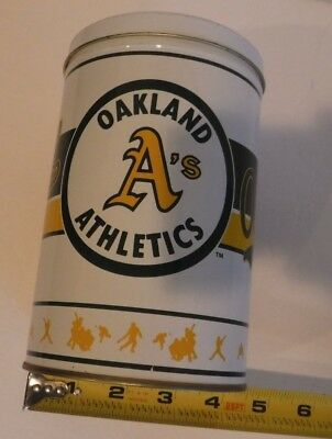 "Vintage Oakland A's  MLB Baseball Tin Can 5"" x 7""  hard to find"