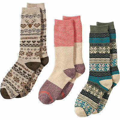 Legendary Whitetails Ladies Toasty Toes 3-Pack of Socks Winter Heather