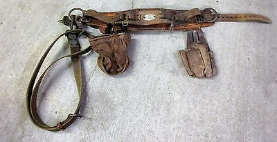 VINTAGE KLEIN TOOLS Lineman's Safety Climbing Belt with Accessories Size 38-46