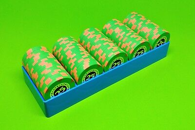 10 Blue Poker Chip Trays - Casino Chip Racks - Each Holds 100 Chips - Brand New