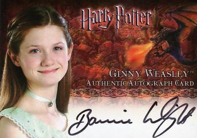 Harry Potter and the Goblet of Fire Update Bonnie Wright Autograph Card