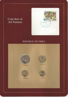 Coin Sets of All Nations - Chile, 4 coin set, postmarked 1998