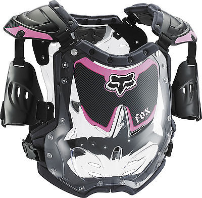 Fox Racing R3 Womens S/M Chest/Roost Guard/Protector Black/Pink Motocross MX