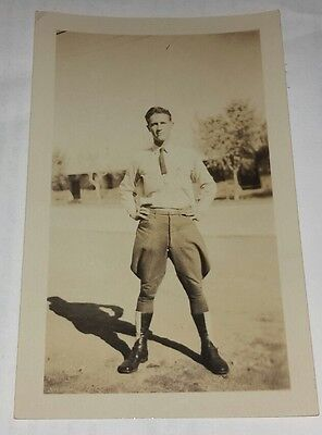 Vintage Old 1920's Photo of a Man Wearing some Outrageous Looking Pair of Pants