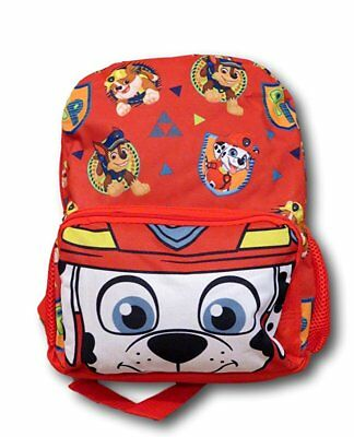 "3D Face Paw Patrol Chase, Marshall, Tan 12"" Toddler Backpack"
