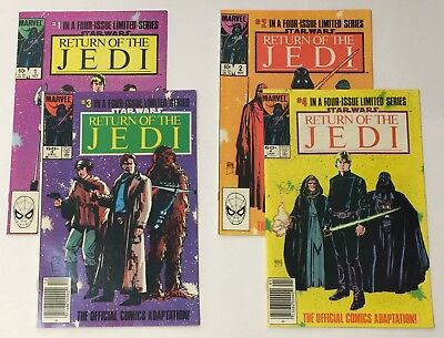 Star Wars Return of the Jedi Complete 4 Issue Series Marvel Comics 1 2 3 4