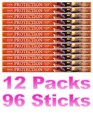 HEM INCENSE STICKS - Protection - 12 Packs - 96 Sticks