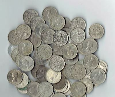 "Lot of 25 - Sixpence - Wedding - ""Something Old something New"" ** 25 Coins **"