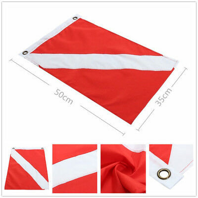 Flag Big Diver Down Boat Pennant Scuba Diving Banner Red International Sign Hot