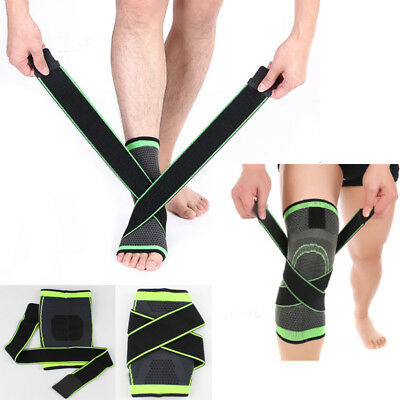 3D Weaving Knee Support + Ankle Protect Sports Pad Pressurization Brace Cycling