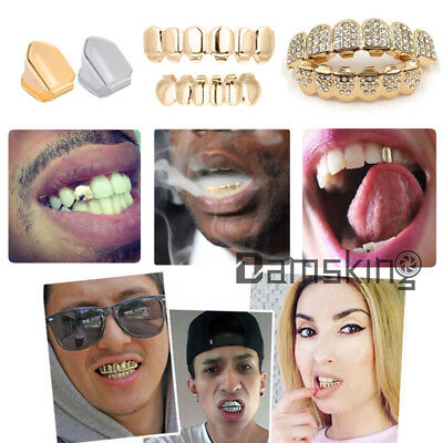 Hip Hop Vergoldeter Zähne Gold Plated Mouth Teeth Single Tooth Grillz Deko