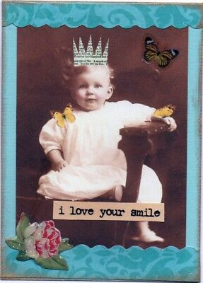 """ I Love Your Smile "". ATC , ACEO card"