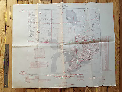 Index to Map Sheets 1949 - National Topographic Series, Ontario & Quebec Canada