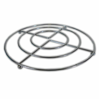 Stainless Steel Chrome Hot Pan Pot Stands Round Trivet Holder Kitchen